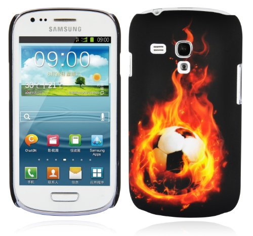 Cadorabo - TPU Hard Cover per > Samsung Galaxy S3 MINI < (I8190) - Case Cover Involucro Bumper Accessorio in Design: PALLONE