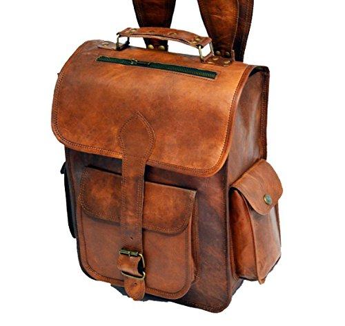 CLASSYDESIGN Leder-Rucksack, Vintage-Design, handgefertigt