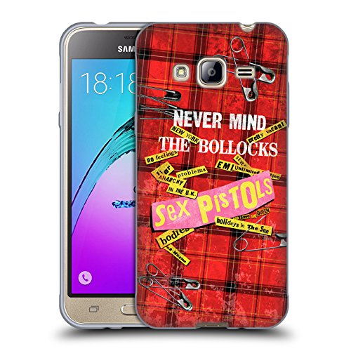 Head Case Designs Offizielle Sex Pistols Tartan Print Song Art Band Kunst Soft Gel Hülle für Samsung Galaxy J3