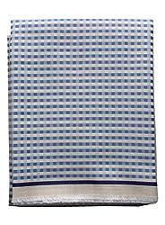 Arvind Mens 100% Premium Cotton Shirt Fabric Unstitched (Blue)