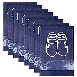 12pcs Scarpe da Viaggio Multiuso Antipolvere Sacchetti Porta Sacca da Viaggio Impermeabile Non Tessuto con Finestrella