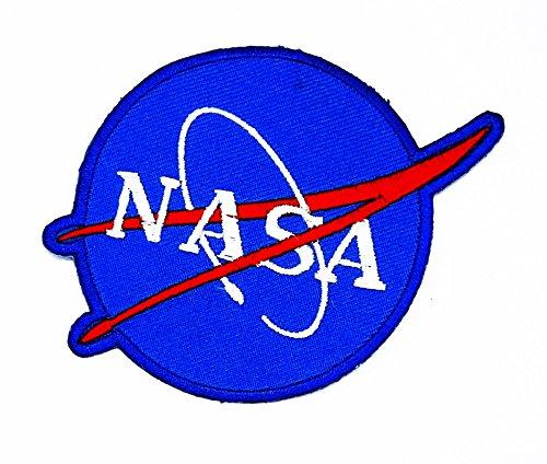 rabana blau NASA Space Programm Vector Cartoon Kids Kinder Cute Animal Patch für Heimwerker-Applikation Eisen auf Patch T Shirt Patch Sew Iron on gesticktes Badge Schild (Kostüm Cowboy Space)