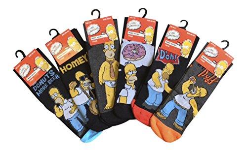 the-die-simpsons-herren-6-oder-12-paare-von-homer-simpson-waren-gemusterten-socken-12er-pack