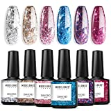 Glitter Gel Nail Polish Set - 6PCS 0.33 OZ UV LED Soak Off