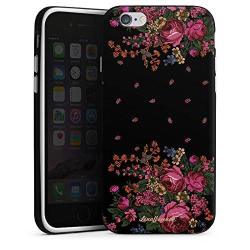 Apple iPhone 5s Housse Étui Protection Coque Roses Roses Roses Housse en silicone noir / blanc