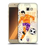 Head Case Designs Calcio Scivolata Mosse Di Calcio Geometriche Cover Retro Rigida per Samsung Galaxy A5 (2017)
