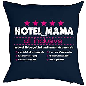 weihnachtsgeschenk f r mama kissen mit f llung hotel mama all inclusive geschenk f r die mutter. Black Bedroom Furniture Sets. Home Design Ideas