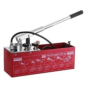 Autovictoria Bomba comprobación 50 BAR 726 PSI Manual bomba de prueba 3 gallon Depósito con doble válvula sistema…