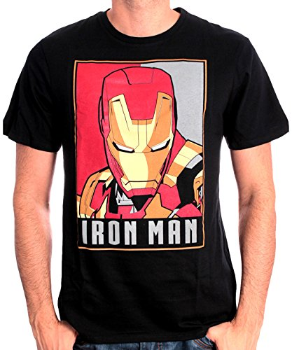 Marvel Iron Man Obey-T-shirt  Uomo    nero L