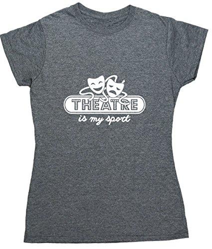 HippoWarehouse Damen T-Shirt Gr. Medium, grau meliert (T-shirt Light Damen Diva)