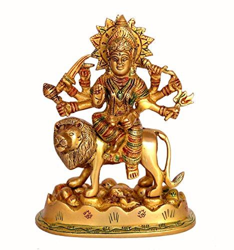 "Stonkraft Best Quality Brass Statue Maa Durga Mata Rani Idol for Home Mandir (6.5"")"