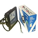 V-TAC LED Projecteur Lumière 10W Blanc IP65 Ultra Slim