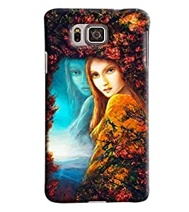 Blue Throat Girl Painting Hard Plastic Printed Back Cover/Case For Samsung Galaxy Alpha