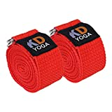 #5: KD Yoga Fitness Exercise Strap Pack of 2 (6ft, 8ft, 10ft) for Stretching, Flexibility, Dance, Pilates and Physical Therapy Adjustable Buckle D Ring Buckle Yoga Belt Durable Cotton Exercise Straps