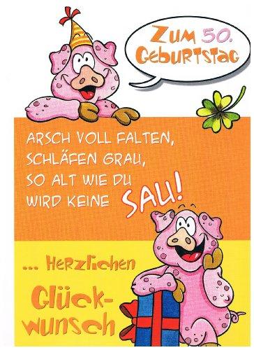 Geburtstagskarte XXL zum 50. - witzig