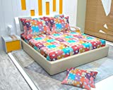 #6: SAGGI'S FITTED BEDSHEET fits mattress size upto 72/76/8 inches, IS SPECIFICALLY DESIGNED IN SUCH A WAY THAT IT OFFERS COMFORT & EASE TO THE USER. 100 % COTTON SHEET IS SURROUNDED BY A VERY HIGH QUALITY, TEMPERATURE RESISTENT ELASTIC WHICH PROVIDES FREEDOM FROM TUCKING EVERY DAY! BEDSHEET'S VIBRANT COLORS EXUDES COOL VIBES AND IS DESIGNED IN SUCH A WAY THAT CALMS MIND & SOUL ONCE YOU ENTER THE ROOM.