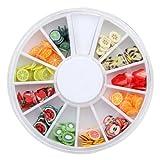 240pcs decoración forma de fruta pa uña UV GEL Acrylic