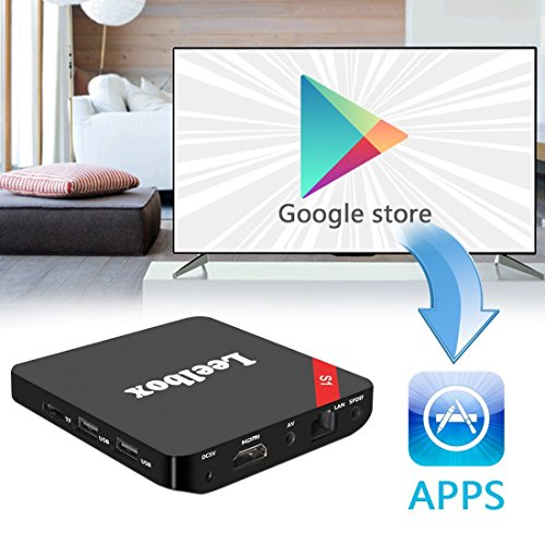 Leelbox S1 Android TV Box Amlogic S905X Quadcore Cortex A53 Android 6.0 Kodi 16.1 1GB RAM+8GB ROM WIFI 2.4GHz 4K Streaming Media Player - 3