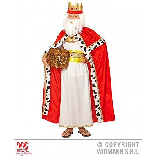 Lively Moments Kostümzubehör Königsumhang mit Königskrone für Kinder / Königinnenumhang / Kinderumhang / Royal King Cape Gr. 140 ( 8 - 10 Jahre )
