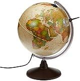 Idena Antik Globus - Geografischer Globus mit Licht und Lupe, 30 cm