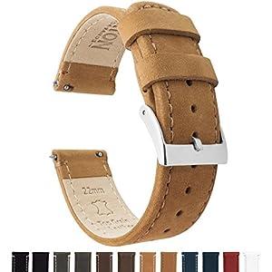 Barton Watch Bands Schnellverschluß. – Top Marke Leder Uhrenarmbänder – Wahl der Farbe und Breite 18mm, 20mm or 22mm Band
