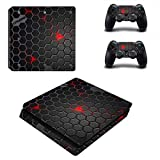Playstation 4 Slim + 2 Controller Aufkleber Schutzfolien Set - Crysis /PS4 S