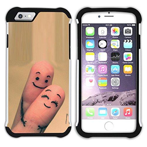 Graphic4You Liebe Herz Hart + Weiche Kratzfeste Hülle Case Schale Tasche Schutzhülle für Apple iPhone 6 Plus / 6S Plus Design #45