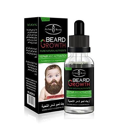 Hommes Beard Growth Oil Moustache Feutrine Croissance Rapide AméLiorer Facial Moustaches Nutrition Moustache