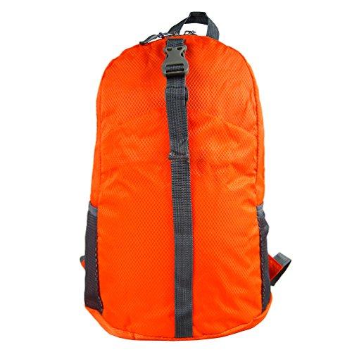 zaino ultraleggero, pieghevole per campeggio,viaggio o viaggio di lavoro,borsa pacco,cartella (Orange)