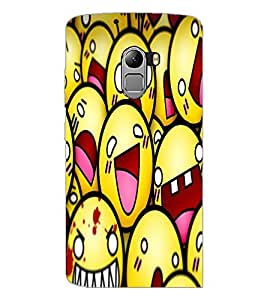 PrintDhaba Smileies D-5602 Back Case Cover for LENOVO K4 NOTE A7010a48 (Multi-Coloured)