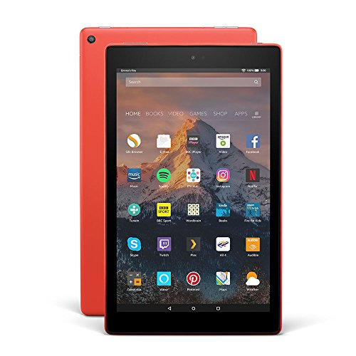 "All-New Fire HD 10 Tablet with Alexa Hands-Free, 10.1"" 1080p Full HD Display, 64 GB, Punch Red – with Special Offers"