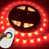 LIGHTEU, 5 Meter 12V professionell RGB LED Streifen Set (60 LED/m, IP65) für boot, yacht, inkl. Controller, wlan, 2.4G