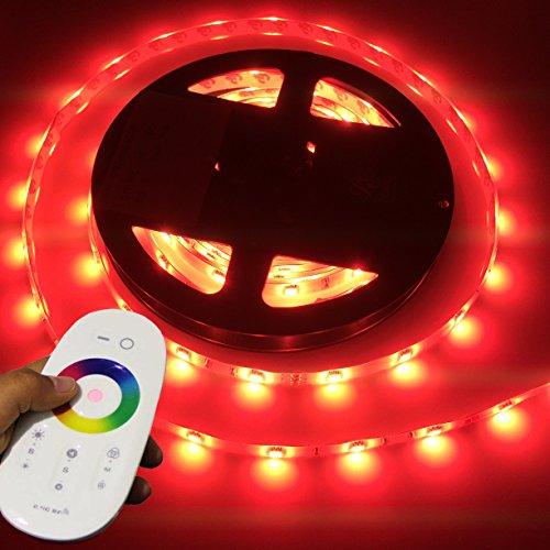 LIGHTEU, 5 Meter 12V professionell RGB LED Streifen Set (60 LED/m, IP65) für boot, yacht, inkl. Controller, wlan, 2.4G RF touch Funkfernbedienung
