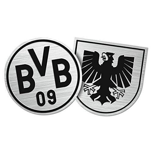 "Borussia Dortmund Autoaufkleber / Aufkleber / Sticker \""Wappen Emblem\"" BVB 09 - plus gratis Aufkleber forever Dortmund"