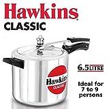 Hawkins Classic Aluminum Pressure Cooker, 6.5 litres
