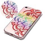 Coque iphone 7,Coffeetreehouse Motif soft coloré de motif estampé TPU Ultra Mince...