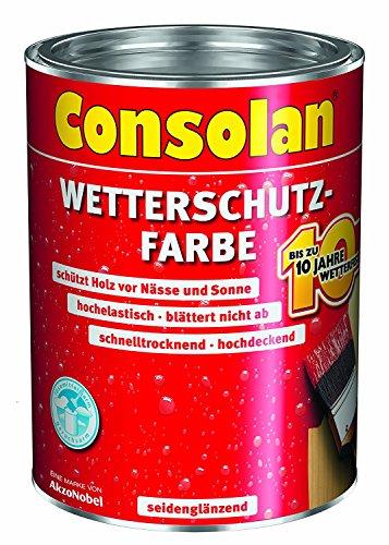 Consolan Wetterschutz-Farbe 5L (Weiß)