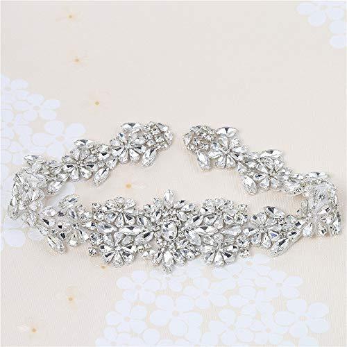 Perlen Vintage Strass Applique Gürtel mit Kristallen für DIY Kleider Kleider von Nähen oder Bügeleisen (Splitter)