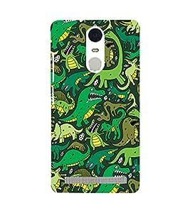 Printvisa Assorted Dinosaur Pattern Back Case Cover for Lenovo K5 Note