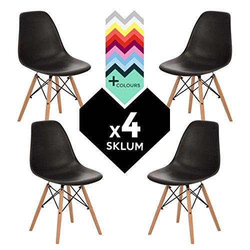 SKLUM Set di 4 sedie Tower Wood Sedia IMS Nero - (Scegli Un Colore)