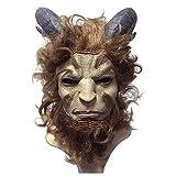 QQWE Máscara De Tocado De Príncipe De La Bestia Máscara De Cosplay De Belleza Y Bestia Cabeza De Disfraz De Halloween Cosplay Mostrar Atavíos De Vestuario De Película,A-OneSize