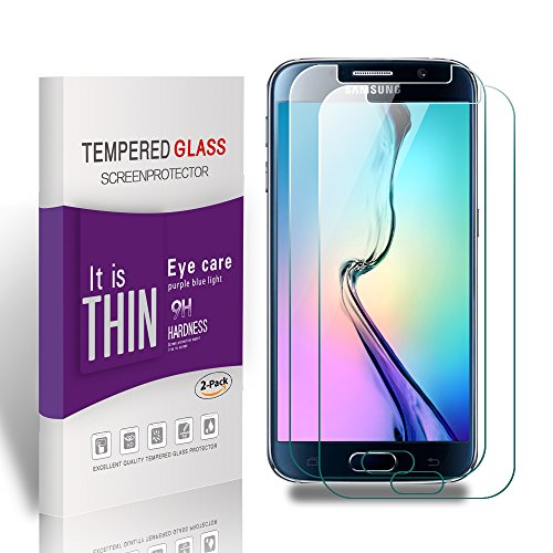 Vegbirt Galaxy S6 Screen Protector, Protector Film Tempered Glass for Samsung Galaxy S6 [5.1Inch], 9H Hardness screen protector cover for Galaxy S6 Test