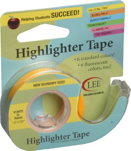 lee-products-1-2-x-720-inch-highlighter-tape-fluorescent-yellow
