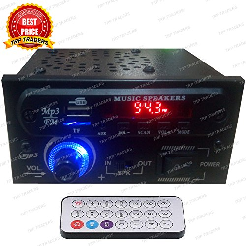 AC/DC Stereo Audio Amplifier MP3 Player Module With Speaker & Dancing Light Panel,Card, USB, FM Radio