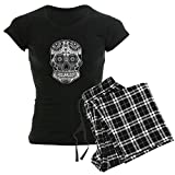 CafePress - Skull Women's Dark Pajamas - Womens Novelty Cotton Pajama Set, Comfortable PJ Sleepwear