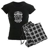 CafePress - Skull Women's Dark Pajamas - Womens Novelty Cotton Pajama Set, Comfortable PJ Sleepwear