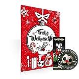 Fortuna Düsseldorf Adventskalender, Weihnachtskalender F95 + Lesezeichen & Aufkleber Wir lieben Fussball