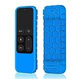 Fintie Remote Hülle für Apple TV 4K / 4th Generation Siri Fernbedienung - [Bienenstock Serie] Leichte Rutschfeste Stoßfeste Silikon Schutzhülle Tasche Case Cover, Blau