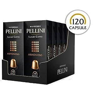 Pellini Caffè, Espresso Pellini Luxury Coffee Armonioso, Compatibili Nespresso - Astuccio da 10 Capsule