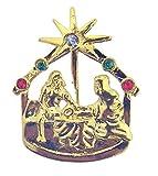 Krippe Christi Star Bethlehem Gold Ton Weihnachten Anstecknadel